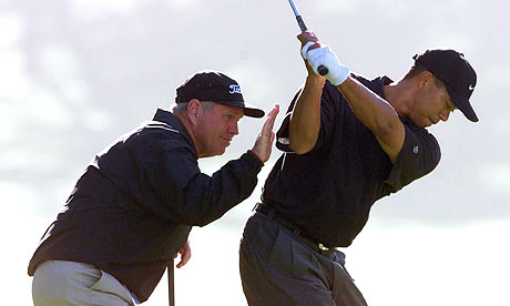 Even Tiger Woods has a coach help him analyze the details of his technique. Photograph: Eric Risberg/AP