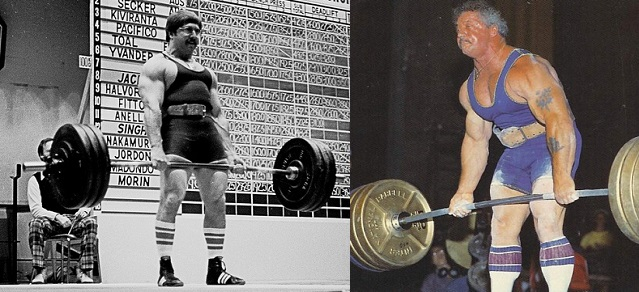 Larry Pacifico and Ernie Frantz, respectively. Photo Credits: chicagopowerlifting.com sweatpit.com