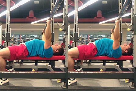 Notice how when the lats are contracted (right), it pulls the shoulders closer to the butt thus raising the chest? Tighten your lats.