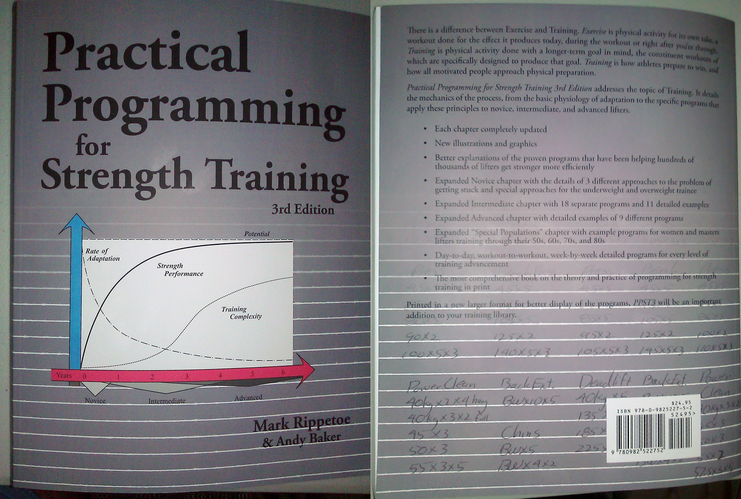 Front and back cover of Practical Programming. Photograph: PowerliftingToWin.com
