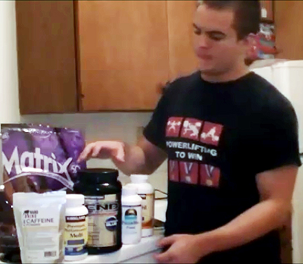 This was my full RFL supplement stack: Syntrax Matrix 5.0, Source Naturals Psyllium Husk, Kirkland Brand Fish Oil and Multivitamin, Hard Rhino Caffeine Powder and Scivation Xtend BCAAs.