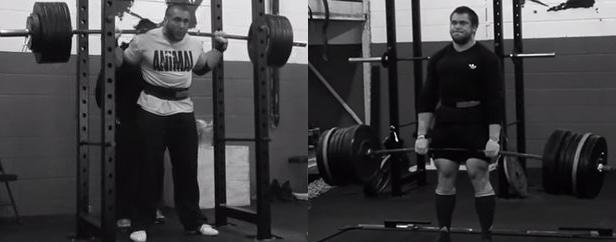 Kade Weber demonstrates the high bar, narrow stance squat and conventional deadlift combination. Photo: animalpak.com