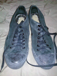 My old pair of chucks has clearly seen better days.