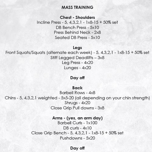 Base Building Mass Training