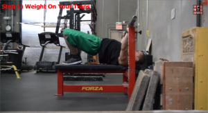 Bench Press Arch Technique Step 1