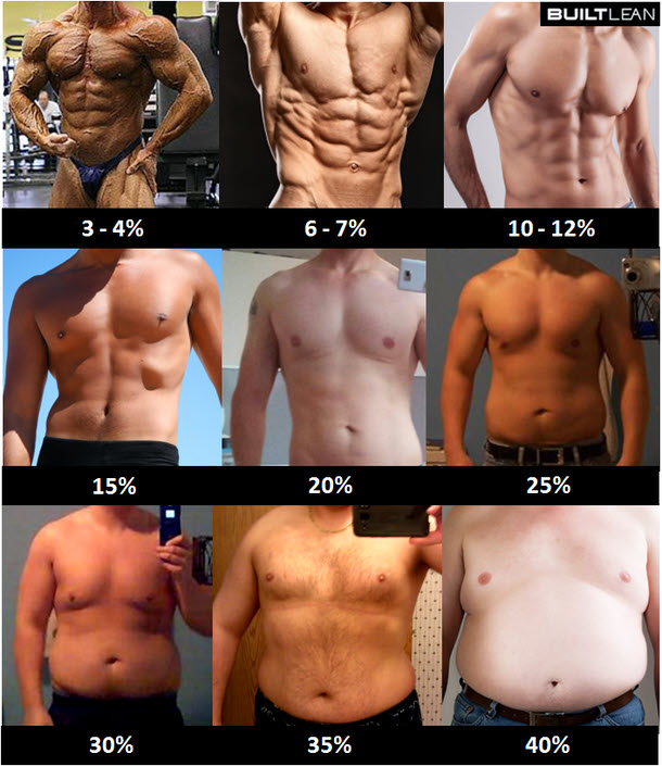 The more muscle you have, the bigger the visual difference between two given percentages. Photo: www.builtlean.com